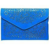Fashion Road Womens Handbag Cut Out Evening Party Clutch Purse Envelope Cross Body Bag