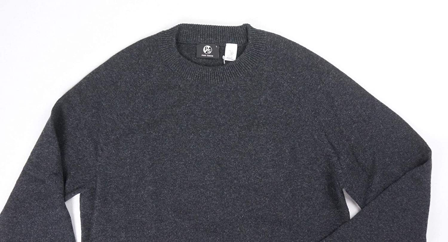 ecf85ef79d71f4 Paul Smith New $250 PS Charcoal Gents 100% Merino Wool Crewneck Sweater  Size L at Amazon Men's Clothing store: