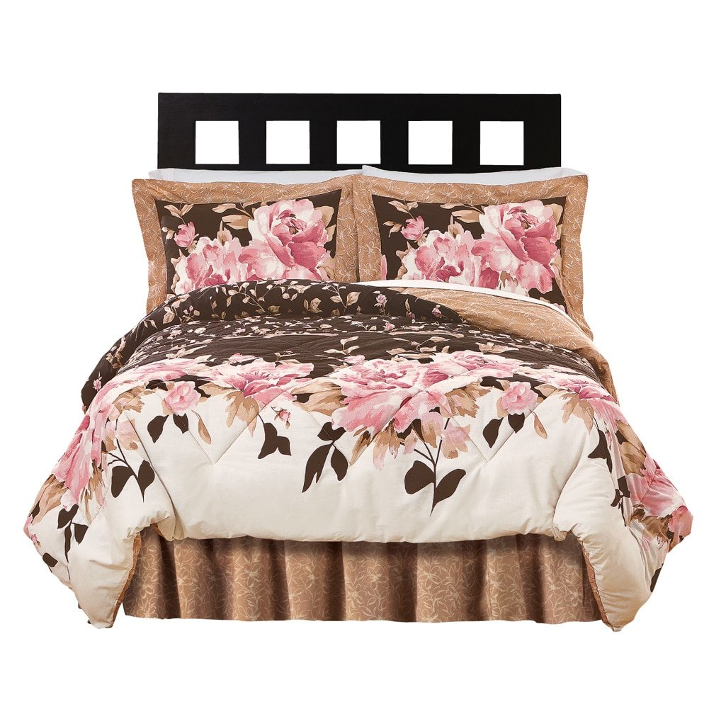 Capri Floral Bedroom Comforter Set - 4 pc, Multi, King