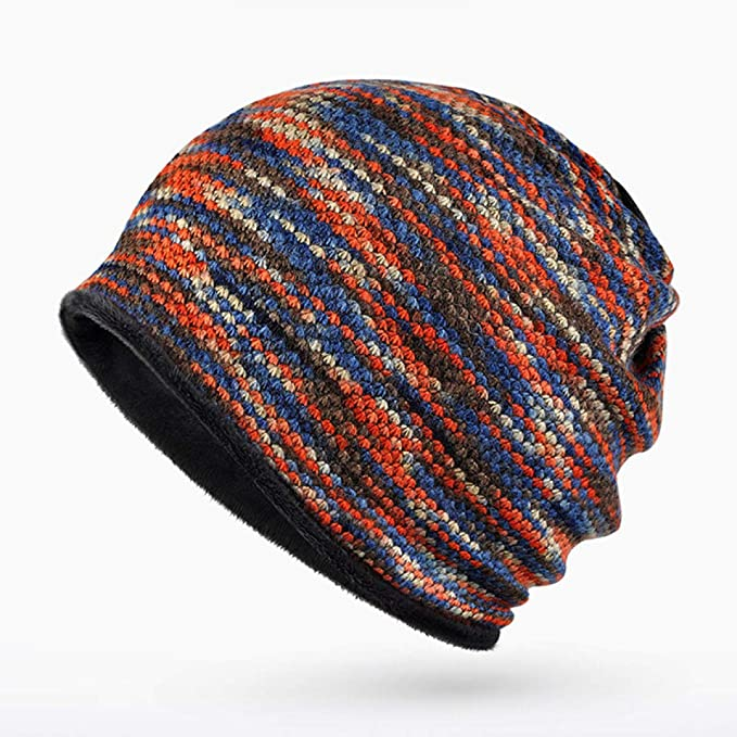 Amazon.com: WEEKEND SHOP Winter Beanies Collar Scarf Women or Mens Hip Hop Hats Warm with Velvet Inside Z-5008 Color No 3: Home & Kitchen