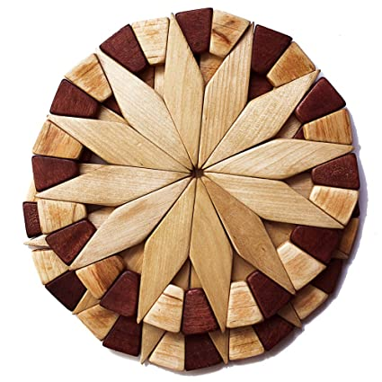 Natural Wood Trivets For Hot Dishes   2 Eco Friendly, Sturdy And Durable 7