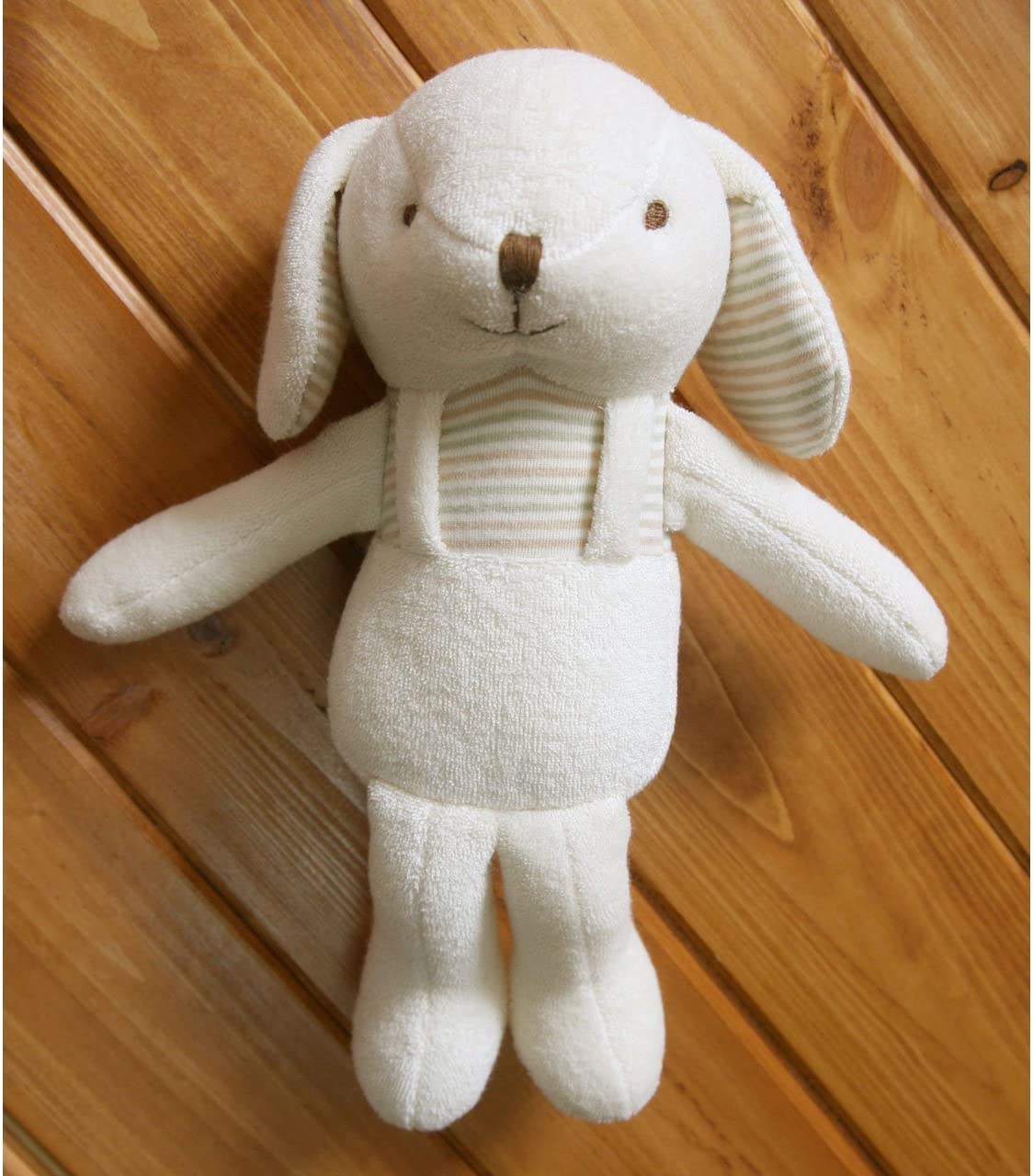 ... Organic Cotton Baby First Doll Lovely Lace Rabbit 11 inches No Dyeing Natural Organic Cotton