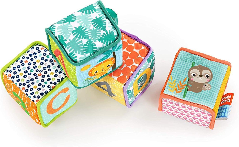 Eveil 9052 Bright Starts Cubes d/'activit/és en tissu