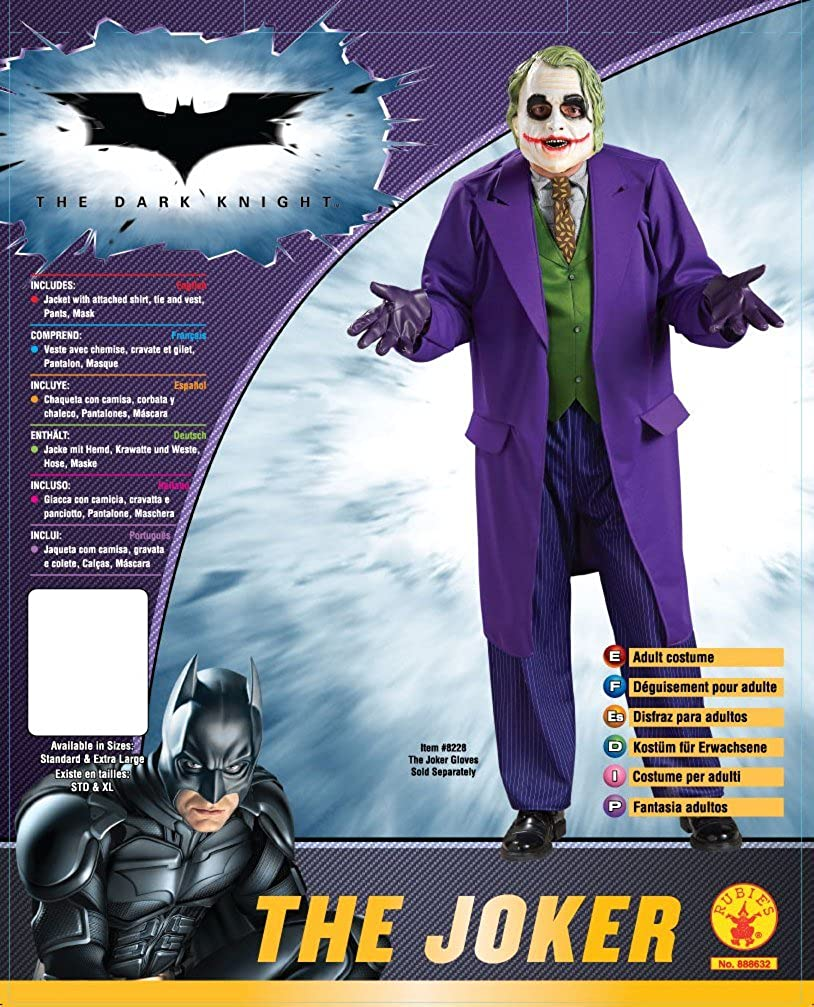 Amazon.com: Disfraz de de The Joker - Batman The Dark Knight ...