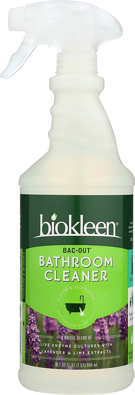 Biokleen Bac-Out Bathroom Cleaner, Eco-Friendly, Non-Toxic, Plant-Based, No Artificial Fragrance, Colors or Preservatives, 32 Ounces