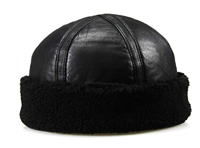 d81153fc CHENTAI Genuine Leather Men's Army Cap Hat Man Military Hats caps Winter  Warm Bomber at Amazon Men's Clothing store: