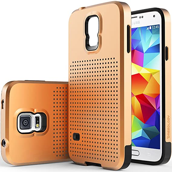 cheap for discount d0980 7d297 Caseology Mesh Armor for Galaxy S5 Case (2014) - Dual-Layered - Copper Gold