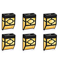 Deals on 6-Pack Winmor Solar Wall Deck Lights Outdoor w/2 Modes