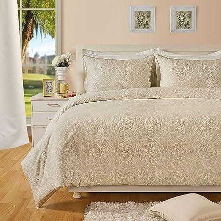 Paisley Print 400TC Cotton Rich Duvet Cover with Pillowcase Bedding Set All Size