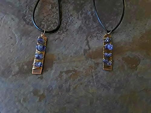 iolite jewelry wire wrapped iolite handmade wire wrap Iolite wire wrapped necklace iolite wire wrap iolite necklace iolite pendant