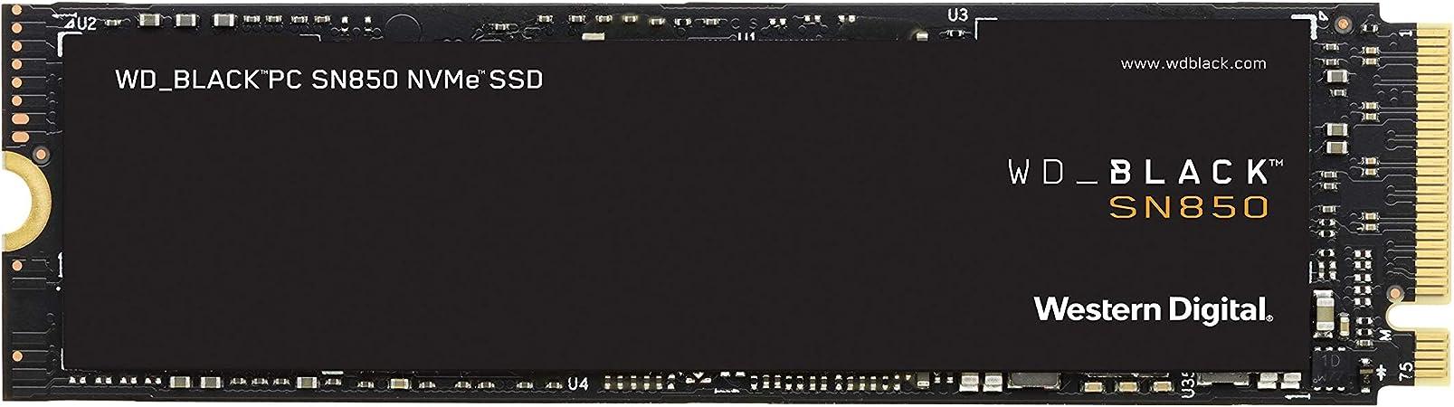 WD_BLACK SN850 de 500 GB - SSD NVMe interno para gaming, PCIe Gen4, hasta 7000 MB/s velocidad de lectura, M.2 2280