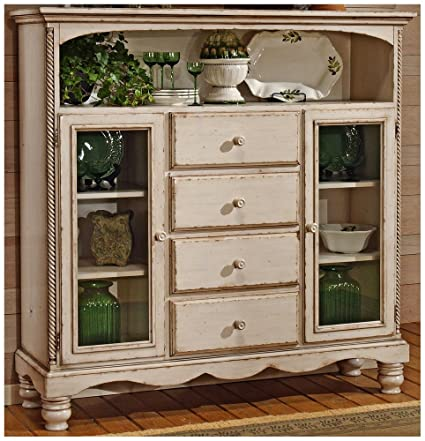 Antique White Bakers Cabinet Rack w Four Drawers - Amazon.com - Antique White Bakers Cabinet Rack W Four Drawers