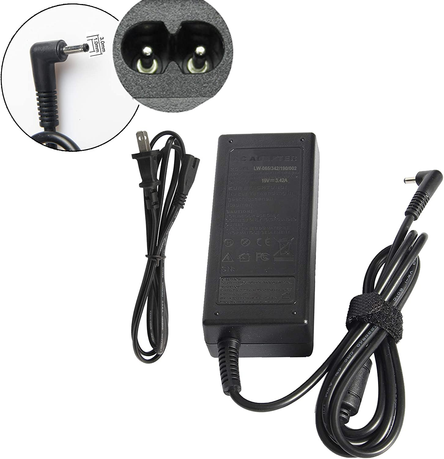 Fancy Buying 65W AC Power Adapter Charger for Acer Chromebook 11 13 14 15 R11 CB3-131-C3SZ C720-2103 CB5-571-C1DZ CB3-111-C670 CB5-132T-C1LK C730E-C4BA; Aspire One Cloudbook 11 14 AO1-131-C7DW C9PM