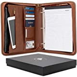 Forevermore Portfolio Padfolio with Zippered Closure, Removable 3 Ring Binder, Letter Size Notepad/Interview and Resume Docum