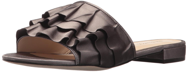 Nine West Women's Ivarene Satin Luxe Flat Sandal B071XTSPRT 10 B(M) US|Grey