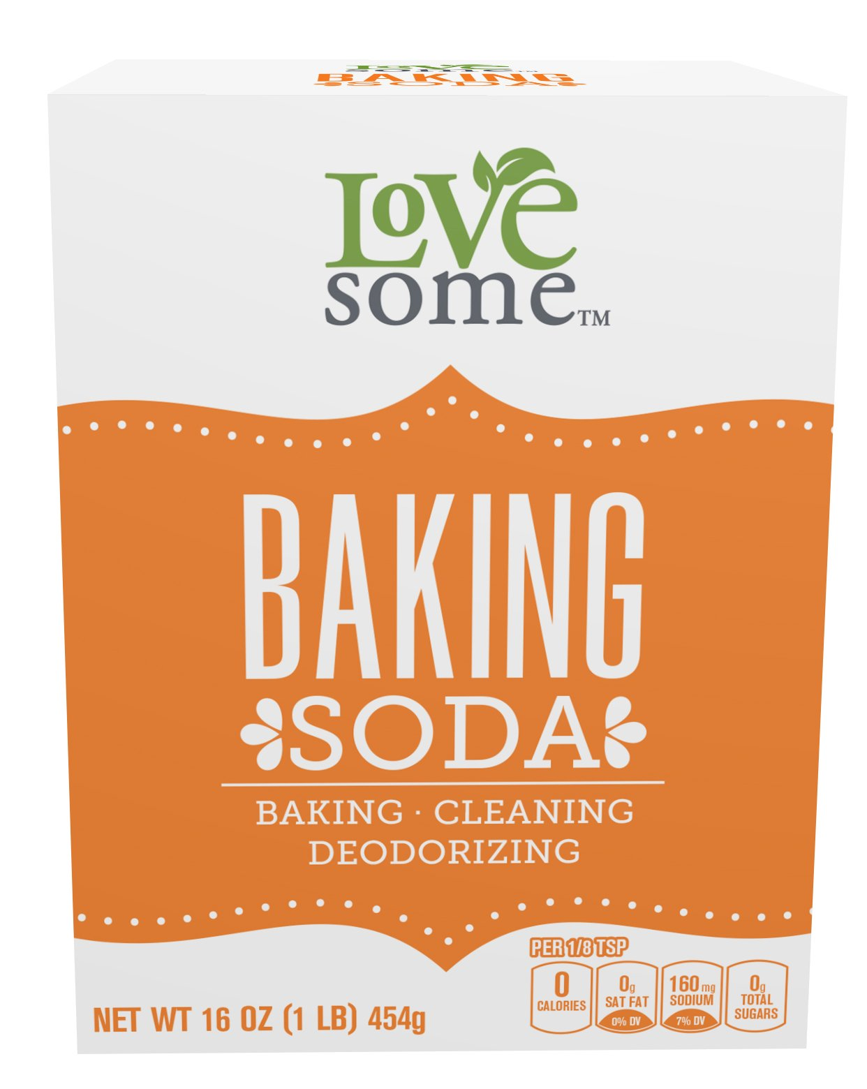LoveSome Baking Soda, 16 Ounce (Pack of 24)