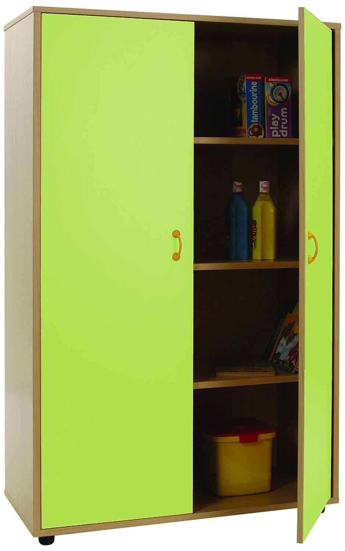 Mobeduc Armario con 2 Puertas, Madera, Apple Verde, 90 x 147 x 40 cm