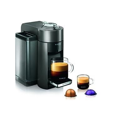 Nespresso GCC1-US-GM-NE VertuoLine Evoluo Deluxe Coffee and Espresso Maker, Graphite Metal (Discontinued Model)
