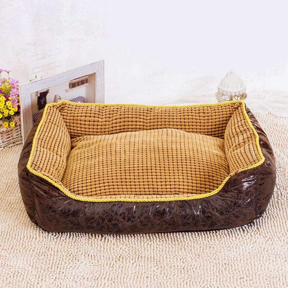 Black 756022cm Black 756022cm FELICIOO Fully Removable And Washable Corn Kennel Pet Dog Bed Dog Pad (color   Black, Size   75  60  22cm)