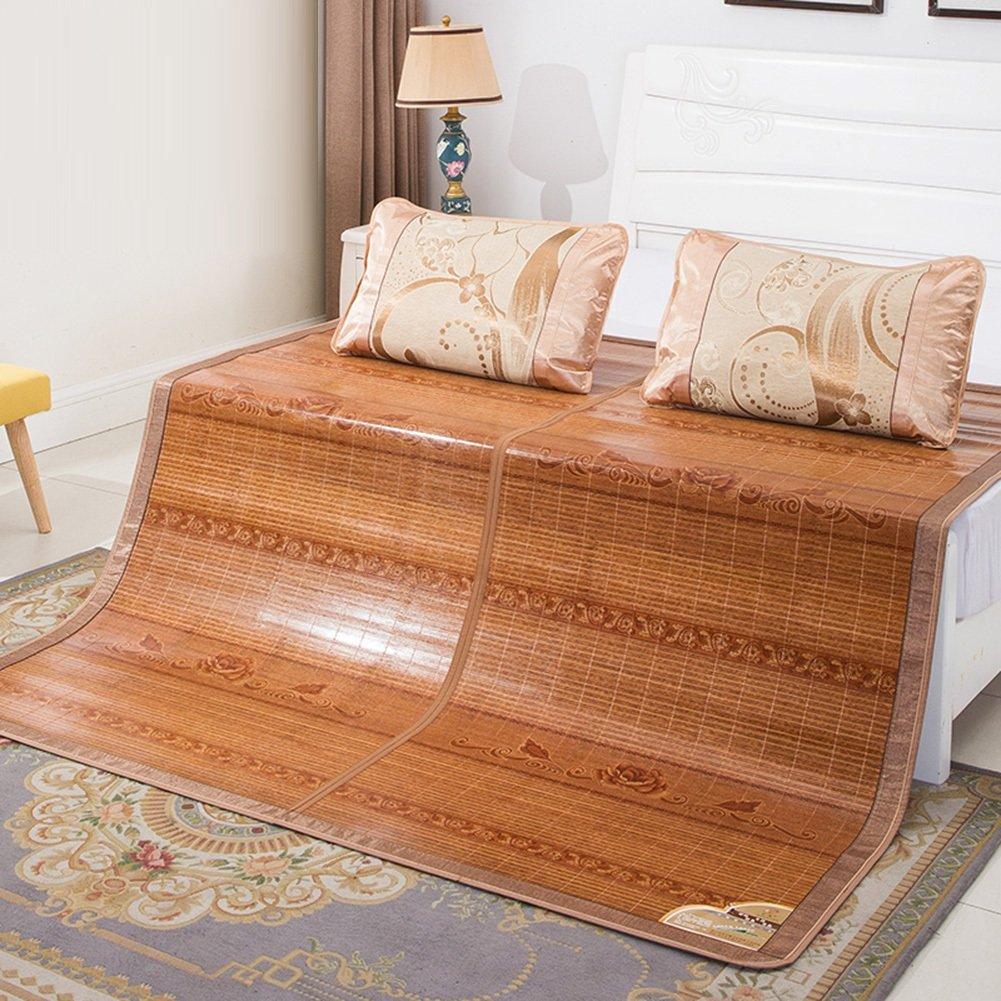WENZHE Bambus Matratzen Sommer-Schlafmatten Strohmatte Teppiche Falten Doppelseitige Verwendung Zuhause Schlafzimmer Kühlung Multifunktion, 2 Arten, 4 Größen (Farbe : A, größe : 1.2×1.9m)