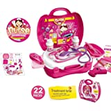 Doctor Kits Pretend and Play Medical Toys Set with Carry Case for Kids and girls - 22pcs