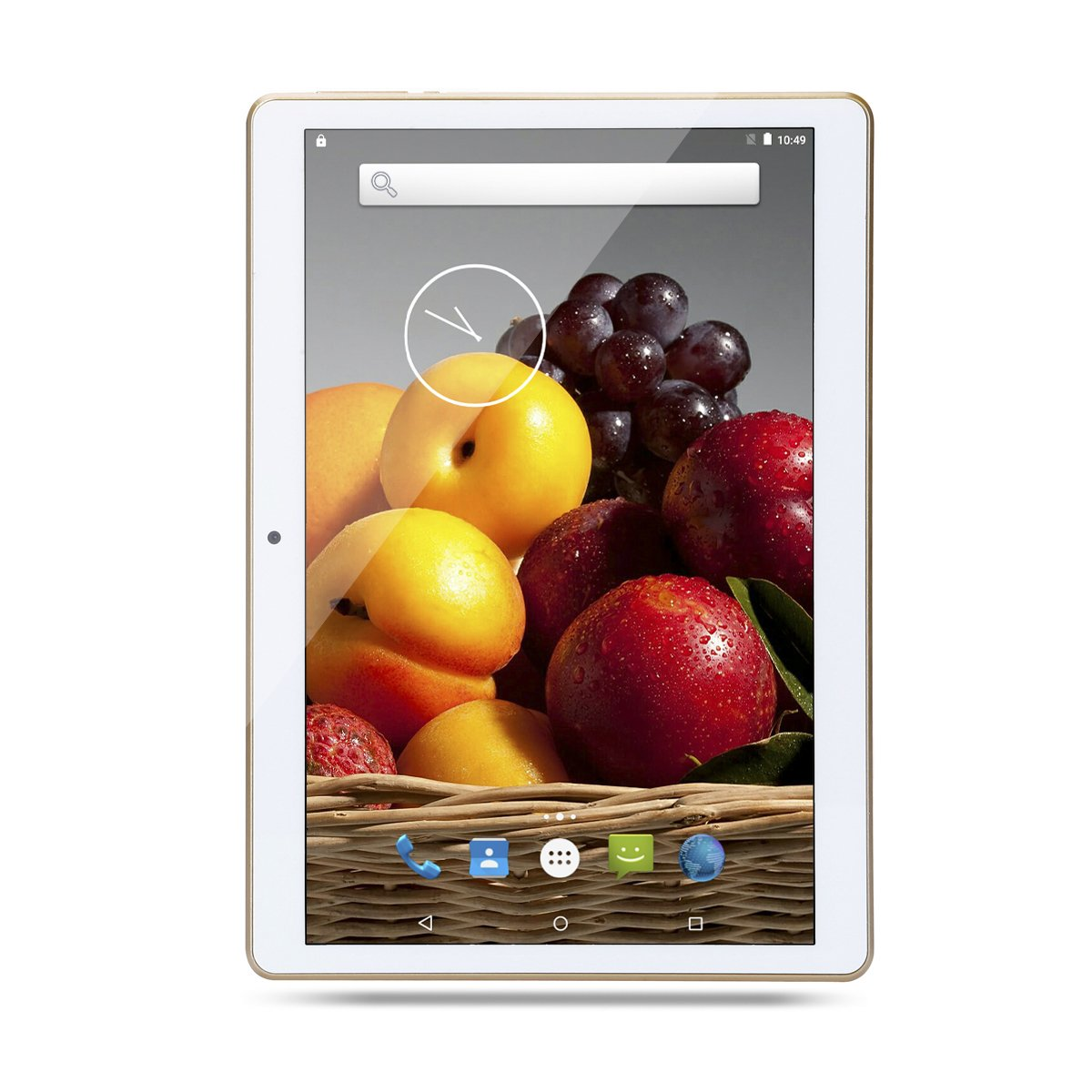Bestenme 10 inch Tablet PC Octa Core 1280X800 IPS Bluetooth RAM 4GB ROM 64GB 8.0MP 3G Dual sim Phone Android 5.1 Lollipop (White)
