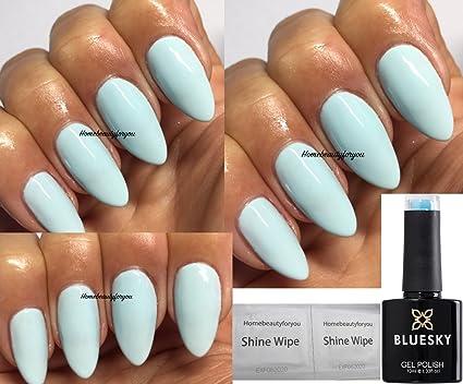 Blue Sky Bleu canard Bp02 Bleu clair/Vert vernis à ongles gel UV LED Soak