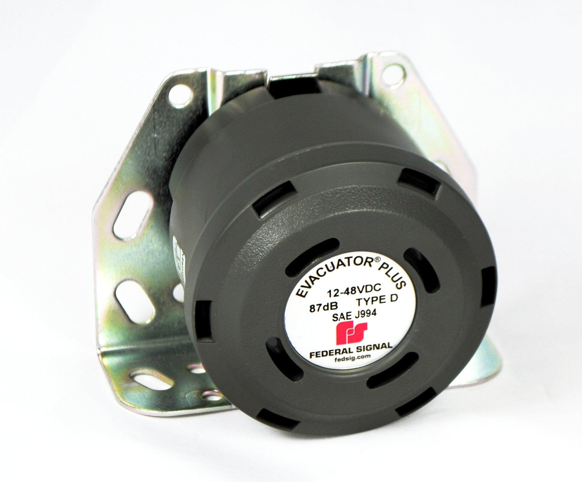 Federal Signal 210330SSG Evacuator Back-Up Alarm, Dual Tone Universal Mounting Bracket, 87 dB(A)