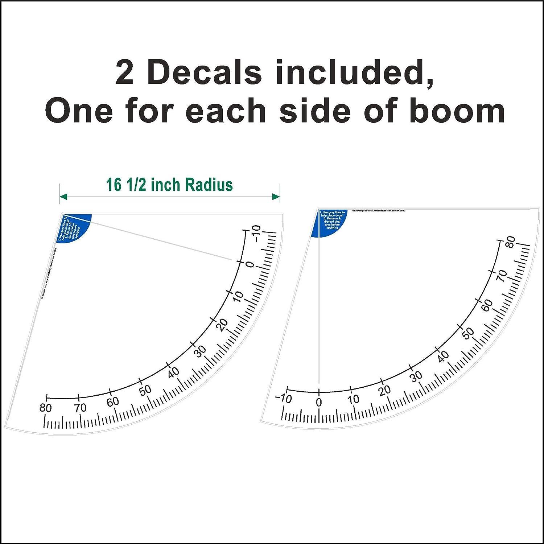 Crane Boom Angle Indicator Decal Kit 12