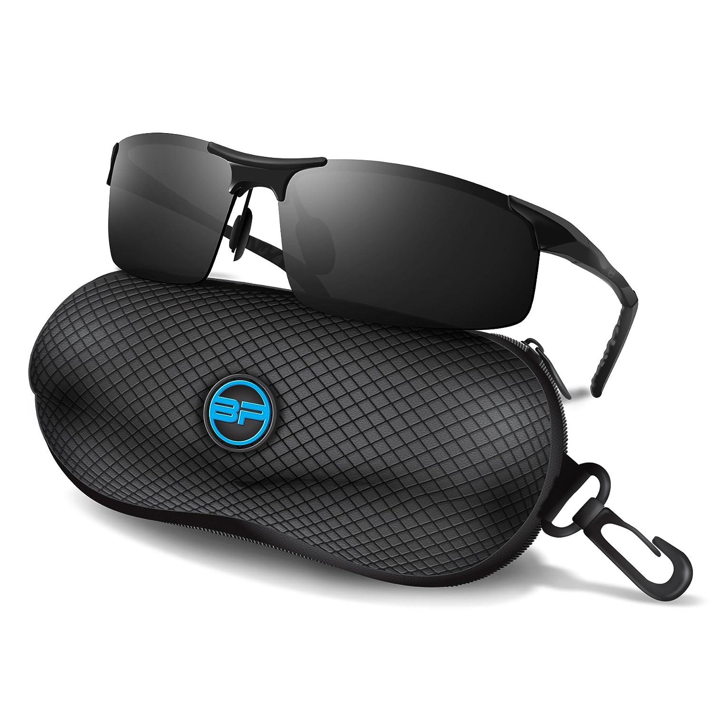 Blupondスポーツサングラスメンズ/レディース – Anti Fog偏光Shooting安全メガネ究極の目を保護 ブラック ブラックブラック B01FSD4A9K