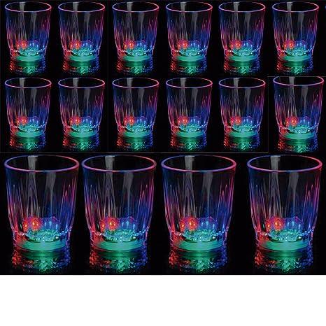 24 Light Up Shot Glasses Led Flashing Drinking Blinking Barware Party Glass Lot