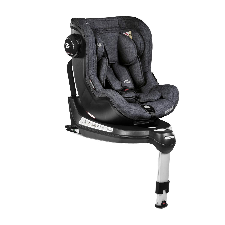 Silla de Coche Swivel Rotative 360º Lino Gris - Innovaciones MS - Grupo 0-1 con capota de serie y sistema de protección lateral.: Amazon.es: Bebé