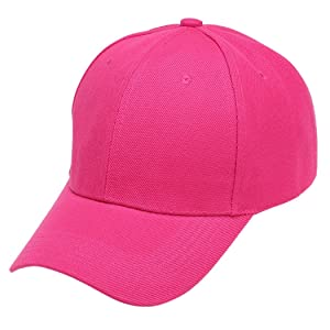 Xirkon Unisex Men Women Trucker Sport Snapback Hip-hop Hat Baseball Cap Rose Red