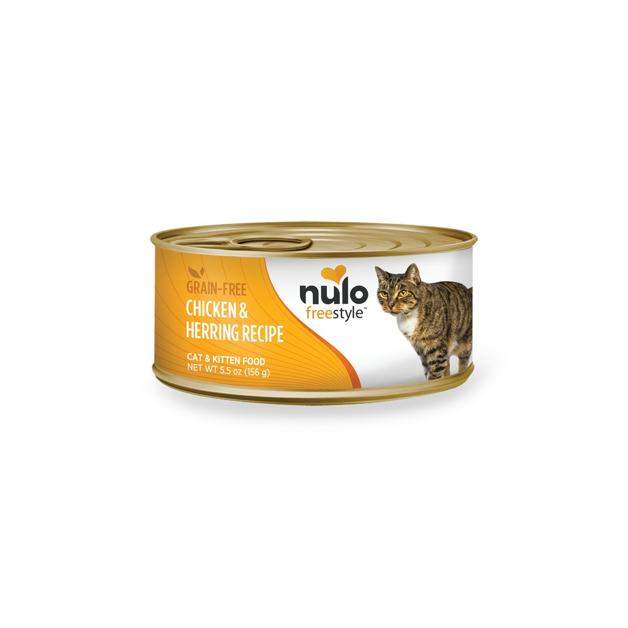 Nulo Adult & Kitten Grain Free Canned Wet Cat Food (Chicken & Herring Recipe, 5.5 Oz, Case Of 24) by Nulo