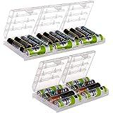 Bluecookies 5 PCS Battery Organizer AA AAA Batteries Storage Holder Case Box