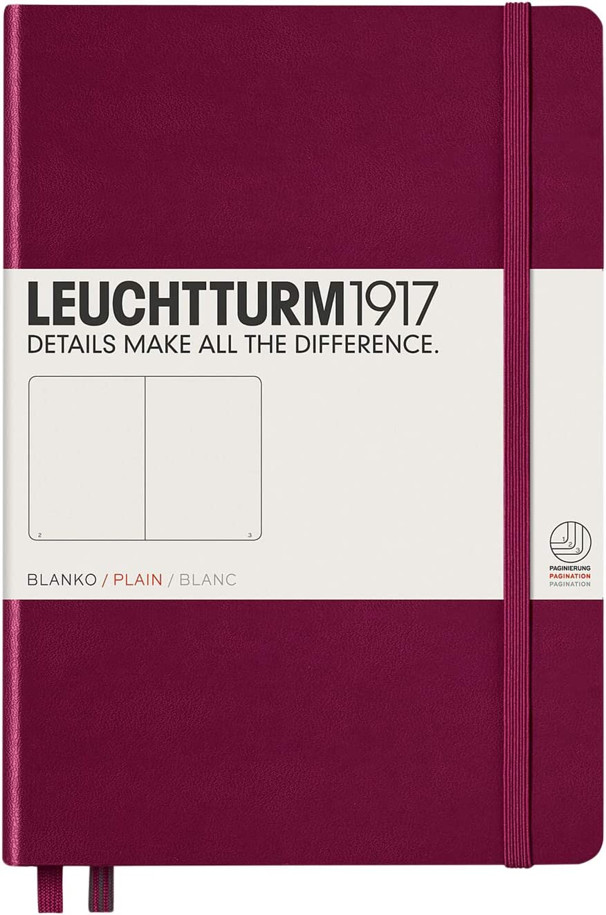 Carnet Medium couverture rigide lign/é LEUCHTTURM1917 new pink A5 348109 249 pages num/érot/ées