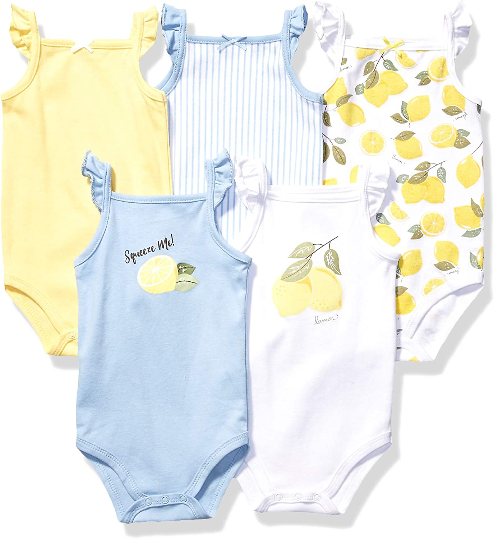 Hudson Baby Unisex Cotton Sleeveless Bodysuits