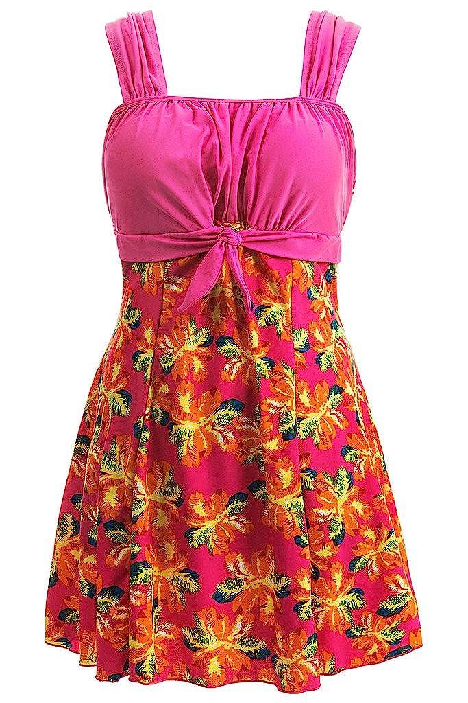 Wantdo Traje de Baño de Adelgazar Vestido de Playa Mujeres