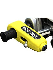 Grip-Lock GLYellow Motorcycle and Scooter Handlebar Security Lock, Yellow