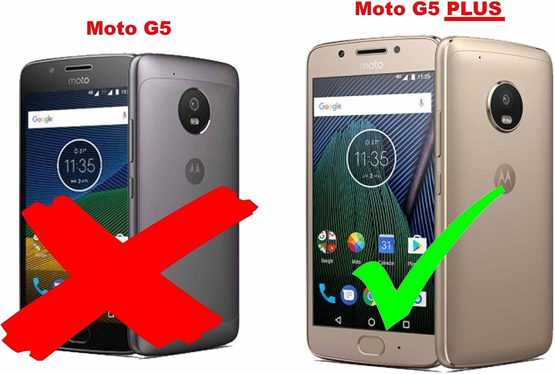 Cadorabo Funda para Motorola Moto G5 Plus en Frost Negro: Amazon ...
