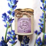 Lavender Scented Candle (Ivory Colour) Made with Blended Natural Wax and fine Fragrance Oils for a Healthy and Clean Burn/Vegan Candle