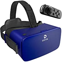 DESTEK 3D VR Headset Glasses for Mobile Games and Movies, Ultra-Soft Face Cushion Virtual Reality Headset, fit for…