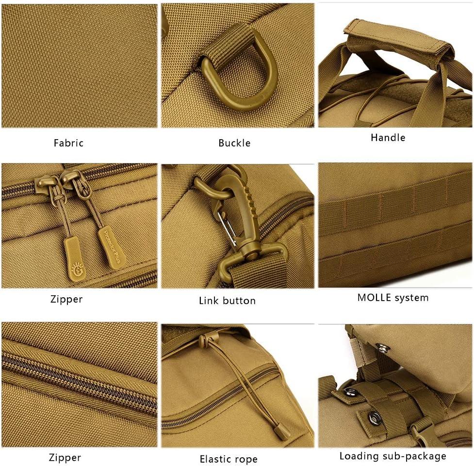 MountRise-Bags Borse Militari Muilt 35L, Daypack tattico per Tre scopi all'aperto, Ideale per Arrampicata all'aperto, Campeggio, Turismo B