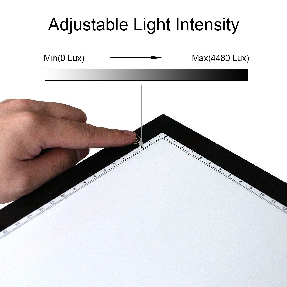 Huion A4 Light Box Tracing Board, L4S Ultra-thin Portable Drafting LED Table Art Light Pad for Tattoo Drawing Animation Designing Stencilling X-ray Viewing With Holder (Lighter and Thinner)
