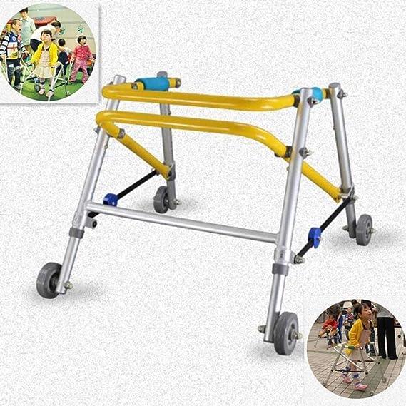 HABITREE de Aluminio para niños Plegable Andador con Ruedas disCapacitados Walker Baja Miembro rehabilitación Walker Stand de Entrenamiento para niños ...