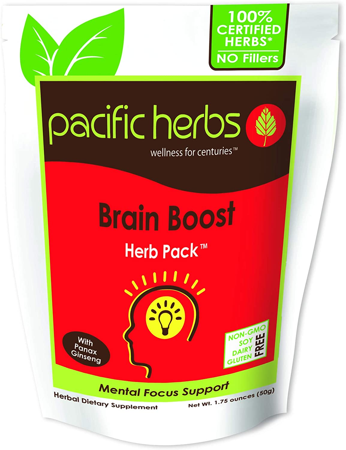 Pacific Herbs Natural Brain Supplement Herb Extract
