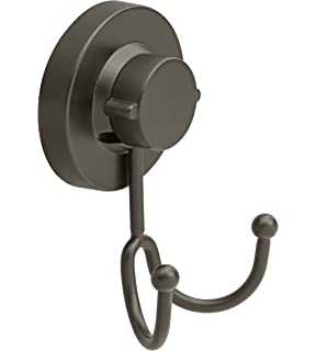 Gecko Loc Heavy Duty Suction Cup Hooks Shower Accessory Stainless Steel    Black