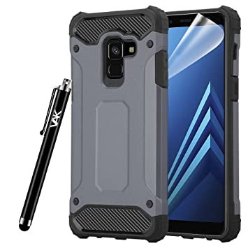 newest 8252d eb550 For Galaxy A8 Case - Impact Heavy Duty Hard Tough Dual Layer Shockproof  Armour Defender Case for Samsung Galaxy A8 (Grey)