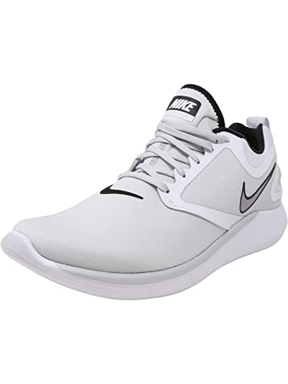 outlet store 2b0df 93b9a NIKE Men s Lunarsolo Pure Platinum Wolf Grey-White Ankle-High Running Shoe  - 12M  Amazon.co.uk  Clothing