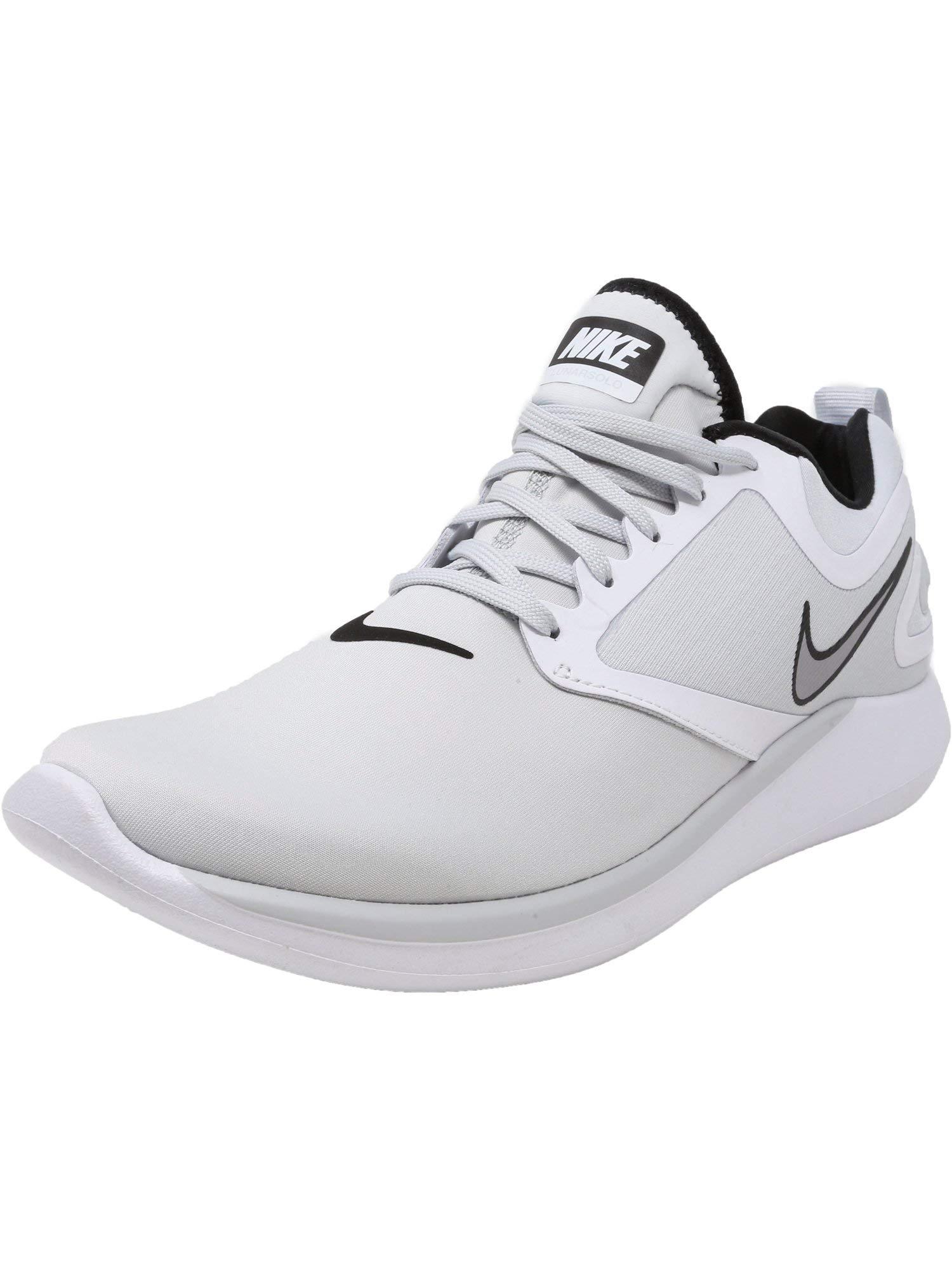 3c1ff69b4fe Galleon - Nike Men s Lunarsolo Pure Platinum Wolf Grey-White Ankle-High Running  Shoe - 10.5M